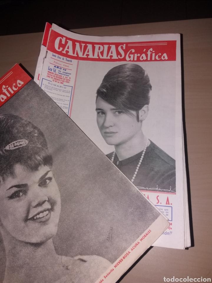 Coleccionismo de Revistas y Periódicos: Gran lote de antiguas revistas, CANARIAS GRÁFICA - 56 revistas - Foto 2 - 155543380