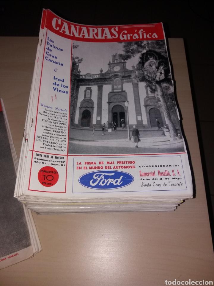 Coleccionismo de Revistas y Periódicos: Gran lote de antiguas revistas, CANARIAS GRÁFICA - 56 revistas - Foto 3 - 155543380