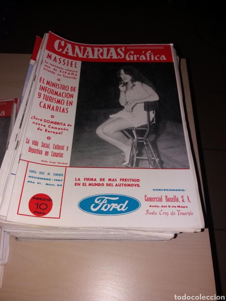 Coleccionismo de Revistas y Periódicos: Gran lote de antiguas revistas, CANARIAS GRÁFICA - 56 revistas - Foto 4 - 155543380