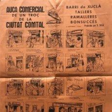Coleccionismo de Revistas y Periódicos: 1964 AUCA COMERCIAL DE UN TROÇ DE LA CIUTAT COMTAL 44,5×31,6 CM. Lote 155556390