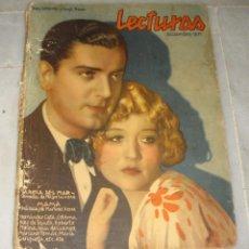 Coleccionismo de Revistas y Periódicos: LECTURAS. DICIEMBRE DE 1931. BETTY COMPSON Y HUGH TREVER EN PORTADA.. Lote 155608082
