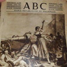 Coleccionismo de Revistas y Periódicos: PERIODICO ABC DIARIO REPUBLICANO IZQUIERDAS GUERRA CIVIL CRISTO FOTOS MILICIANOS TREN ENFERMERAS. Lote 155652298