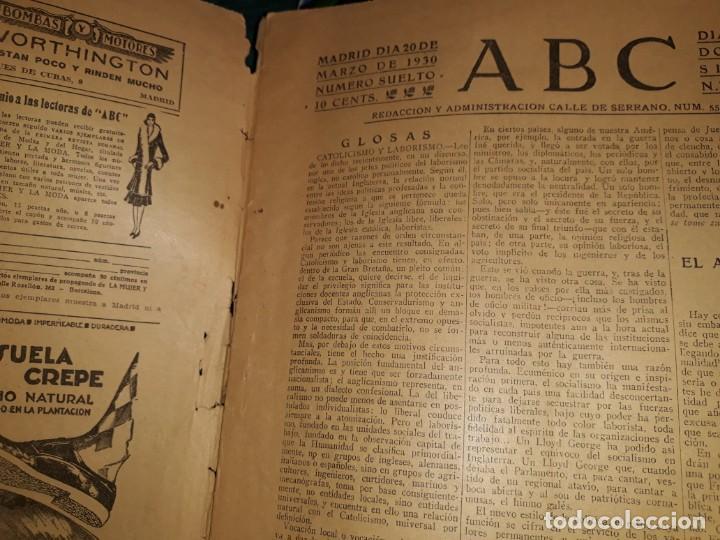 Coleccionismo de Revistas y Periódicos: PERIODICO ABC 1930 DIARIO CAPILLA ENTIERRO PRIMO RIVERA INFANTE ROSA AZAFRÁN ROSARIO PINO PUBLICIDAD - Foto 2 - 155656274