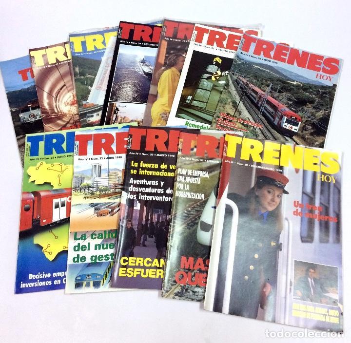LOTE 11 REVISTAS TRENES HOY - AÑO IV 1990 NÚMEROS 30,31,32,3,35,36,37,38,39,40,41 CON 1 SUPLEMENTO (Coleccionismo - Revistas y Periódicos Modernos (a partir de 1.940) - Otros)