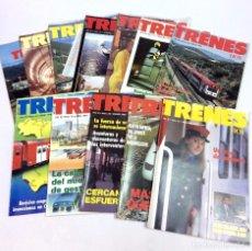 Coleccionismo de Revistas y Periódicos: LOTE 11 REVISTAS TRENES HOY - AÑO IV 1990 NÚMEROS 30,31,32,3,35,36,37,38,39,40,41 CON 1 SUPLEMENTO. Lote 155659366
