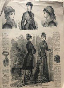La moda elegante. periódico de las familias 26,8×37,8cm