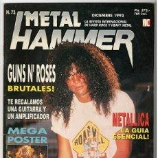 Coleccionismo de Revistas y Periódicos: METAL HAMMER Nº 73 - DICIEMBRE 1993 - GUNS N' ROSES, METALLICA, MOTLEY CRUE, RUSH, PEARL JAM, DEATH. Lote 155708794