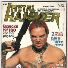 Coleccionismo de Revistas y Periódicos: METAL HAMMER Nº 100 - MARZO 1996 - SEPULTURA, KORN, ANTHRAX, FEAR FACTORY, MINISTRY, BRUCE DICKINSON. Lote 155711570