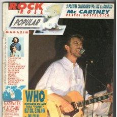 Coleccionismo de Revistas y Periódicos: POPULAR 1 Nº 197 - DICIEMBRE 1989 - BOWIE, THE WHO, MCCARTNEY, ELVIS COSTELLO, RAMONES, ROSENDO. Lote 155712590