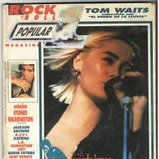 Coleccionismo de Revistas y Periódicos: POPULAR 1 Nº 196 - NOVIEMBRE 1989 - TOM WAITS, WENDY JAMES, ROLLING STONES, RADIO FUTURA, B-52'S. Lote 155712974