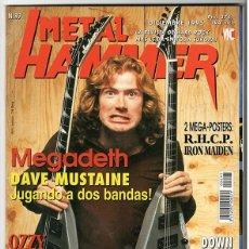 Coleccionismo de Revistas y Periódicos: METAL HAMMER Nº 97 - DICIEMBRE 1995 - MEGADETH, OZZY, DOWN, PARADISE LOST, BARRICADA, SUPERSUCKERS. Lote 155713562