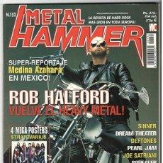 Coleccionismo de Revistas y Periódicos: METAL HAMMER Nº 152 - JULIO 2000 - ROB HALFORD, DREAM THEATER, DEFTONES, PEARL JAM, SATRIANI, SINNER. Lote 155714030
