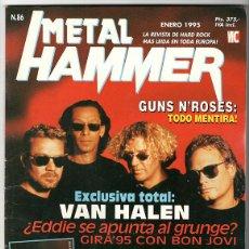 Coleccionismo de Revistas y Periódicos: METAL HAMMER Nº 86 - ENERO 1995 - GUNS N' ROSES, VAN HALEN, PEARL JAM, BLACK CROWES. Lote 155715310
