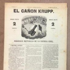 Coleccionismo de Revistas y Periódicos: EL CAÑON KRUPP. PERIÓDICO METRALLA DE LA GUERRA CIVIL. DISPARO 12º. 30 DE JULIO DE 1874. - [REVISTA]. Lote 155749194