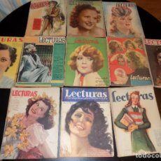 Coleccionismo de Revistas y Periódicos: LOTE DE 20 REVISTAS LECTURAS AÑOS 30-40. Lote 155974938