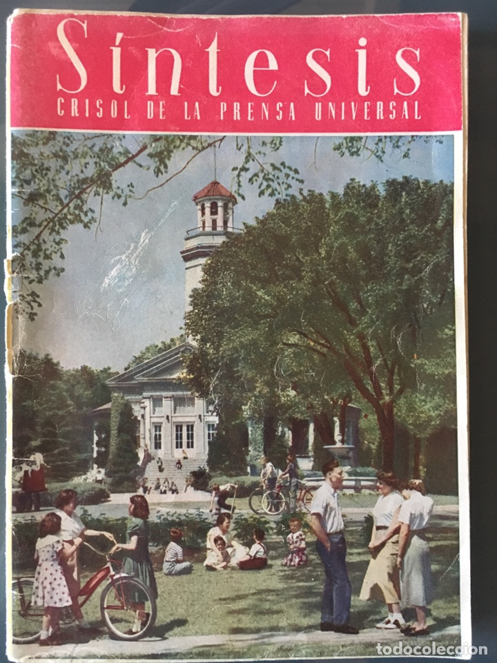 REVISTA SÍNTESIS CRISOL DE LA PRENSA UNIVERSAL, FEBRERO 1951 (Coleccionismo - Revistas y Periódicos Modernos (a partir de 1.940) - Otros)