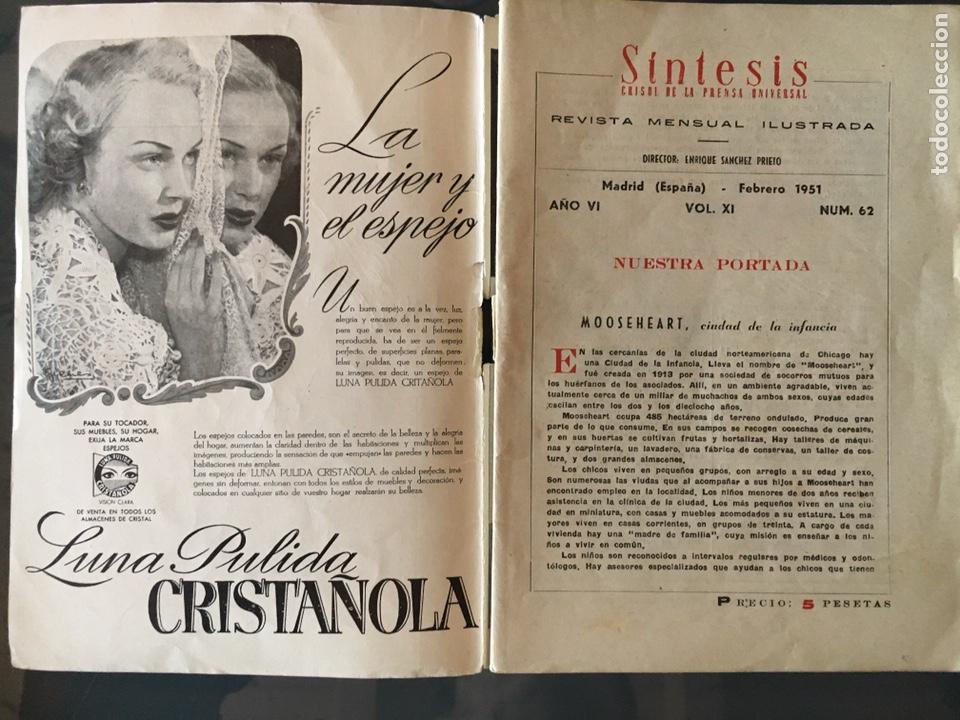 Coleccionismo de Revistas y Periódicos: REVISTA SÍNTESIS CRISOL DE LA PRENSA UNIVERSAL, Febrero 1951 - Foto 2 - 156033762