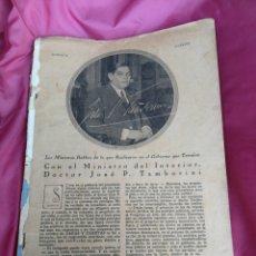 Coleccionismo de Revistas y Periódicos: REVISTA CARA Y CARETAS BUENOS AIRES 16 JUNIO DE 1928 ANTIGUA, ARGENTINA.. Lote 156066546
