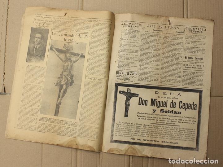 Coleccionismo de Revistas y Periódicos: LA UNION. DIARIO GRAFICO INDEPENDIENTE. SEVILLA. Nº 2678. 20 FEBRERO 1926. MUERTE DEL LITRI - Foto 4 - 156107393