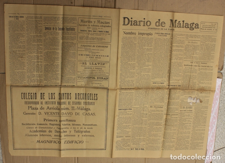DIARIO DE MALAGA. Nº 1805. 18 DE FEBRERO DE 1926. LA MUERTE DE LITRI (Coleccionismo - Revistas y Periódicos Antiguos (hasta 1.939))