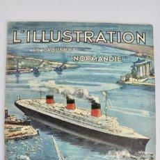 Coleccionismo de Revistas y Periódicos: L-5298 REVISTA .L'ILLUSTRACTION .LE PAQUEBOT NORMANDIE .1 DE JUNIO DEL AÑO 1935.. Lote 156163874