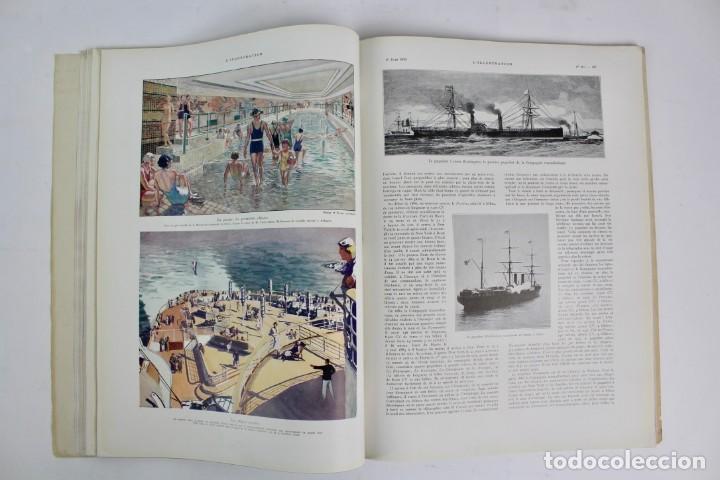 Coleccionismo de Revistas y Periódicos: L-5298 REVISTA .L'ILLUSTRACTION .LE PAQUEBOT NORMANDIE .1 DE JUNIO DEL AÑO 1935. - Foto 6 - 156163874