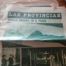 Coleccionismo de Revistas y Periódicos: ANTIGUO PERIODICO VALENCIANO LAS PROVINCIAS. Lote 156228272