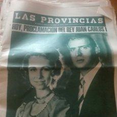 Coleccionismo de Revistas y Periódicos: ANTIGUO PERIODICO VALENCIANO LAS PROVINCIAS. Lote 156231616