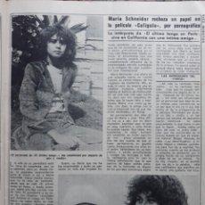 Coleccionismo de Revistas y Periódicos: MARIA SCHNEIDER. Lote 156433658