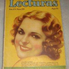 Coleccionismo de Revistas y Periódicos: LECTURAS. AGOSTO DE 1934.. Lote 156484318