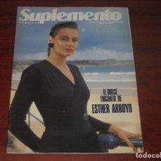 Coleccionismo de Revistas y Periódicos: REVISTA SUPLEMENTO SEMANAL 1990- ROSSY DE PALMA - REY FELIPE VI EN GOLFO PERSICO REPORTA-VER SUMARIO. Lote 156560322
