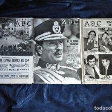 Coleccionismo de Revistas y Periódicos: PERIÓDICO ABC, 3 NÚMEROS, 1981. Lote 156620294