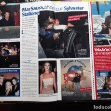Coleccionismo de Revistas y Periódicos: SYLVESTER STALLONE MAR SAURA BRAD PITT YOLA BERROCAL. Lote 156629130