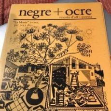 Coleccionismo de Revistas y Periódicos: NEGRE+ OCRE . AGUAFUERTE DE VÍCTOR MIRA NUMERADO. Lote 156630486