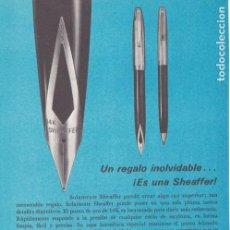 Coleccionismo de Revistas y Periódicos: PUBLICIDAD PLUMA SHEAFFER - 1965. Lote 156631814