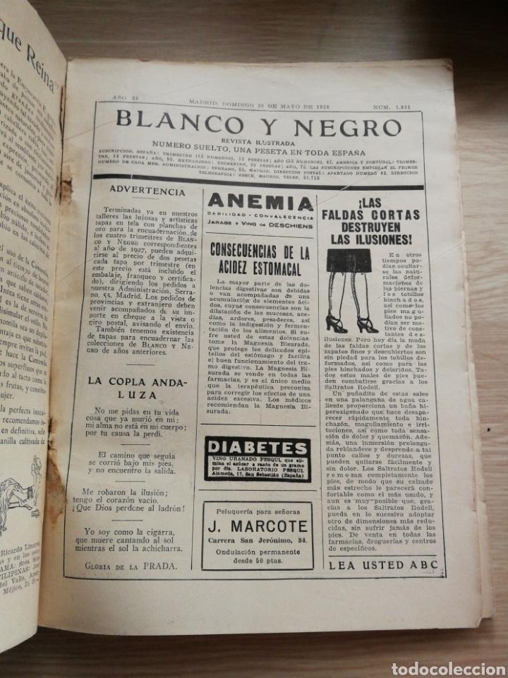 Coleccionismo de Revistas y Periódicos: Revista Blanco y Negro año 1928.Usada. - Foto 2 - 156636138