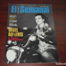 Coleccionismo de Revistas y Periódicos: REVISTA SUPLEMENTO SEMANAL 1994 Nº 338-AMPLIO REPORTAJE DANIEL DAY LEWIS- ENTREVISTA ELISA MATILLA. Lote 156657682