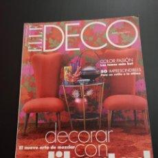 Coleccionismo de Revistas y Periódicos: REVISTA ELLE DECO DECOR DE DECORACIÓN AÑO 2001, NÚMERO 71. Lote 156658990