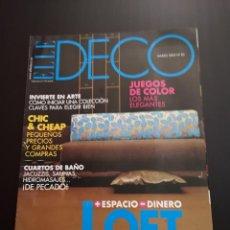 Coleccionismo de Revistas y Periódicos: REVISTA ELLE DECO DECOR DE DECORACIÓN AÑO 2003, NÚMERO 80. Lote 156659090