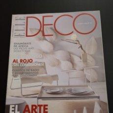 Coleccionismo de Revistas y Periódicos: REVISTA ELLE DECO DECOR DE DECORACIÓN AÑO 2004, NÚMERO 85. Lote 156659186