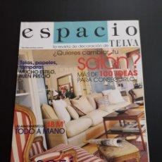 Coleccionismo de Revistas y Periódicos: REVISTA ESPACIO TELVA DECORACIÓN AÑO 2001 NÚMERO 4. Lote 156660546