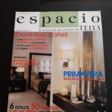 Coleccionismo de Revistas y Periódicos: REVISTA ESPACIO TELVA DECORACIÓN AÑO 2004 NÚMERO 10. Lote 156660578
