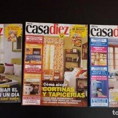 Coleccionismo de Revistas y Periódicos: LOTE 3 REVISTAS CASA DIEZ CASADIEZ DECORACIÓN WOMAN AÑO 2003 2004 NÚMERO 76 77 84. Lote 156660862