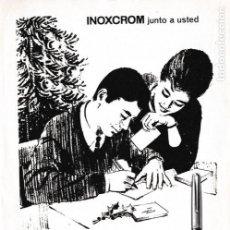 Coleccionismo de Revistas y Periódicos: PUBLICIDAD PLUMA INOXCROM - 1965 . Lote 156666114