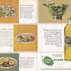 Coleccionismo de Revistas y Periódicos: PUBLICIDAD ACEITE DE OLIVA COES - 1965. Lote 156667490