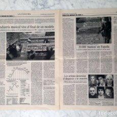 Coleccionismo de Revistas y Periódicos: RECORTE - ARTICULO DE PRENSA - CRISIS EN EL MERCADO DEL DISCO - 2003. Lote 156707486