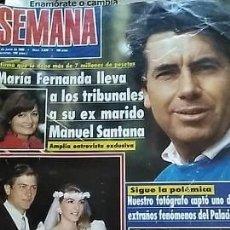 Coleccionismo de Revistas y Periódicos: REVISTA SEMANA 2626 13 JUNIO 1990 MANOLO SANTANA, ANTONIO HERRERO, AZÚCAR MORENO. Lote 156781402