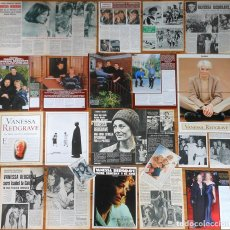 Coleccionismo de Revistas y Periódicos: VANESSA REDGRAVE COLECCIÓN PRENSA SPAIN CLIPPINGS 1960S/00S MAGAZINE ARTICLES PHOTOS ACTRESS. Lote 156838386