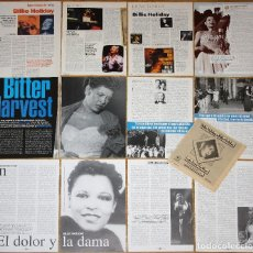 Coleccionismo de Revistas y Periódicos: BILLIE HOLIDAY LOTE PRENSA CLIPPINGS 1970S/00S MAGAZINE ARTICLES PHOTOS JAZZ SINGER. Lote 156838826