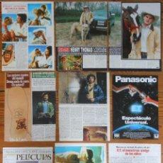 Coleccionismo de Revistas y Periódicos: E.T. MOVIE LOTE PRENSA CLIPPINGS 1980S MAGAZINE ARTICLES STEVEN SPIELBERG HENRY THOMAS ET. Lote 156840126